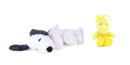 "Peanuts 11.5"" Long Snoopy & 7"" Long Woodstock Soft Plush Doll front-891563"