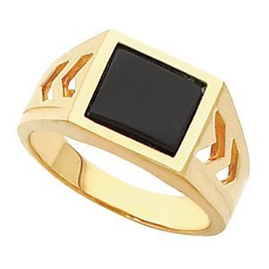 10kt Yellow Men's Ring Mounting for Onyx