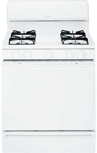 "Hotpoint Rgb525Dedww 30"" White Gas Sealed Burner Range front-567046"