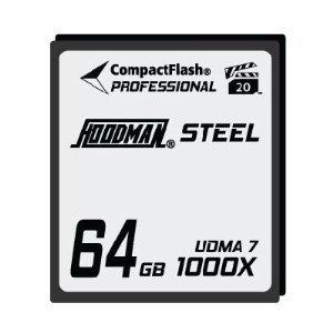 Hoodman RAW Steel Class 7 64GB CompactFlash Card, 1000x High Speed