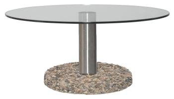 Granito Outdoor Coffee Table 900 dia clear