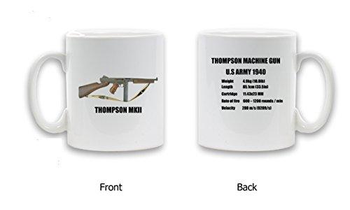 THOMPSON MKII-U.S. Army 1940 regalo con Design-Tazza in ceramica, 325 ml
