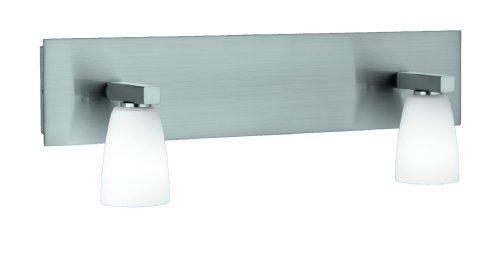Trio-Leuchten 8803221-07 Halogen-Balken 2x40W G9 Nickel matt Glas opal weiß