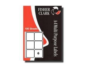 Etiquettes Adresses pk100 A4 6 par feuille Imprimante Compatible Avery L7166
