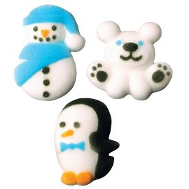 Christmas Winter Buddies Assortment Cakes Cupcakes 12pack