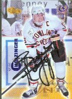 Brian Holzinger, Bowling Green, 1996 Classic Visions Autographed Card