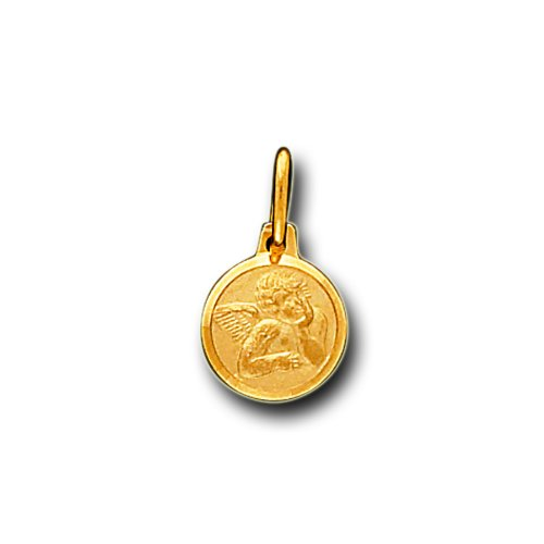 14K Solid Yellow Gold Baby Angel Small Charm Pendant