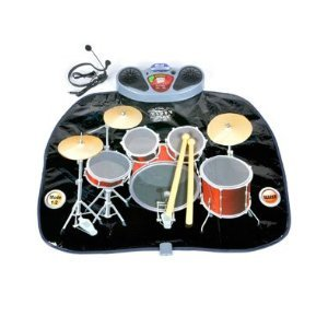 Iplay Gigantic Electronic Drum Playmat - Ipod/Mp3 Plug In Compartment / Earphone And Mic