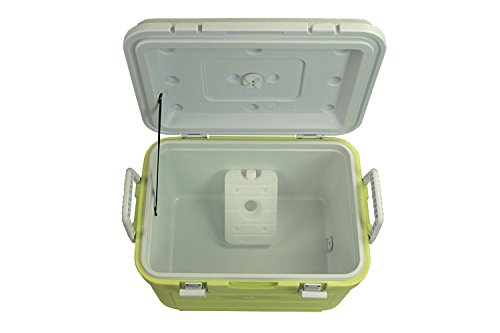 10T-Fridgo-30-Passive-cool-box-30-litres-with-integrated-cooling-battery-and-floor-drain-lemon