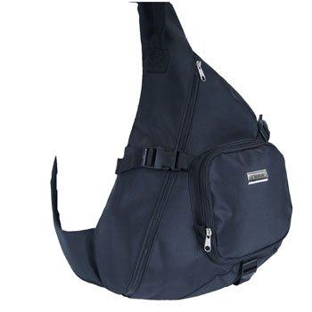 Black Unisex Cross Over Body Monostrap Bag One Arm Backpack Rucksack