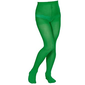 Girls Green Tights - Ideal for Dance, Shows, and Costume Pantyhose (4-6 Years)