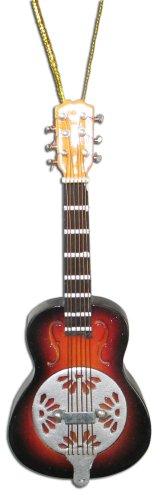 "Miniature Brown Burst Dobro Resonator Guitar Christmas Ornament 4"""