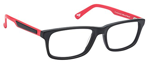 Vincent Chase VC 6468 Matte Black Red C3 Eyeglasses(103799)