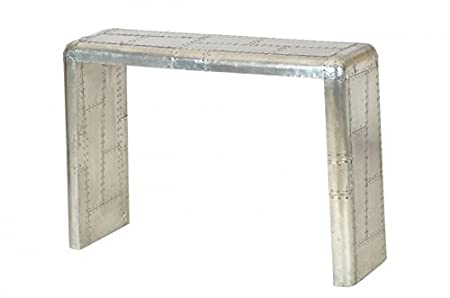 Casa Padrino luxury designer aluminum console table - Art Deco Vintage furniture