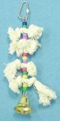 Cheap 6.5″ Rope Knots Toy With Beads & Bell (B00176CQZ8)