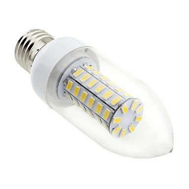 Rayshop - E27 7W Led 56X5730 Smd 700Lm 3000K Warm White Light Clear Cover Candle Bulb Lamp (Ac 220V~240V)