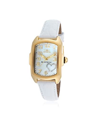 Invicta Women's 52 Lupah White 18K Gold-Plated Stainless Steel Watch As You See