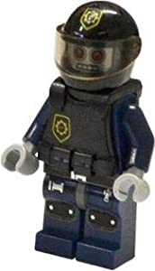 LEGO MOVIE MINIFIGURE Robo SWAT with Vest and Helmet FROM SET 70808