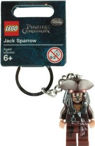 LEGO Pirates of the Caribbean: Captain Jack Sparrow Key Chain