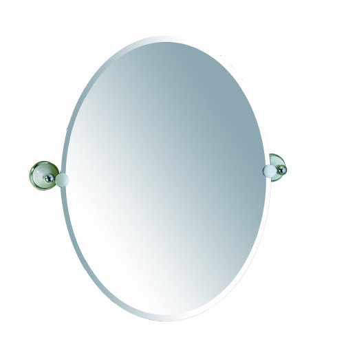 Gatco 5726 Franciscan Oval Wall Mirror, Chrome front-921030