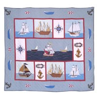 "Ships Ahoy Quilt King 105""X95"" QKSAHY by Patch Magic"