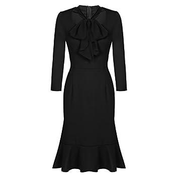 ACEVOG Women's Vintage 50s Elegant Bodycon Formal Casual Party Pencil Dress