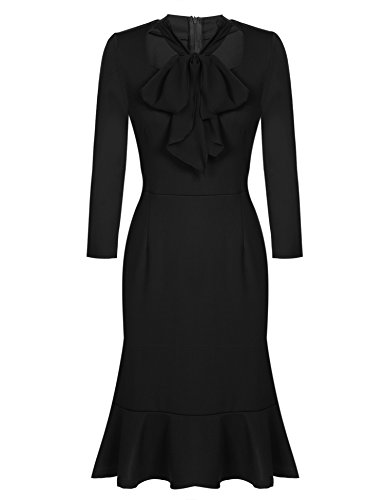 ACEVOG Women's Vintage 50s Elegant Bodycon Formal Casual Party Pencil Dress 0