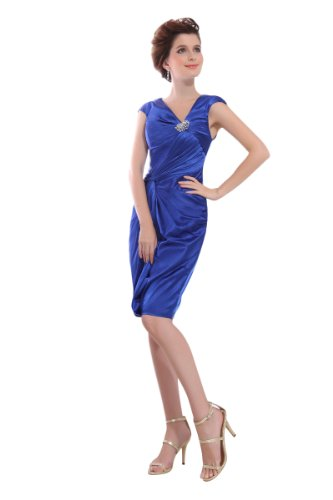 312m7YJXLLL Amazon: Topwedding Elastic Satin V Neck Party Dress with Beads
