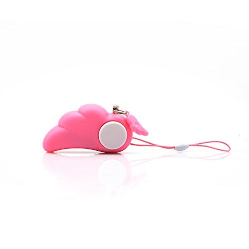 Pretty Handy Angel 90dB Personal Alarm with Key Ring Electronic Protection Alarm Whistle for Women Kids Old People Personal Belongings (Pink(2PCS)) (Whistle For Women compare prices)