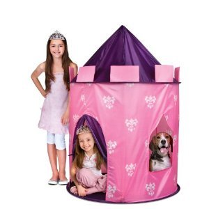 Toy / Game Discovery Kids Lovely Indoor/ Outdoor Princess Play Castle Pink Play Tent With Carrying Case front-928839