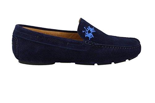 LA MARTINA SCARPA L1036-110 CAMOSCIO MARINO 45 Blue