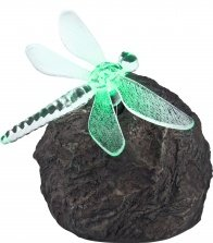 Globo-LED-Colourchange-Outdoor-Solar-Rock-Lamp-with-Dragonfly-Lamp-Multi-Colour