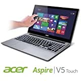 Acer V5-571P-6400 Touchscreen Slimbook Intel Core I3-2377M 4GB 500GB 15.6″ HD widescreen CineCrystal LED-backlit Multi-Touch Display DVD±RW DL Bluetooth Windows 8 (Silver)