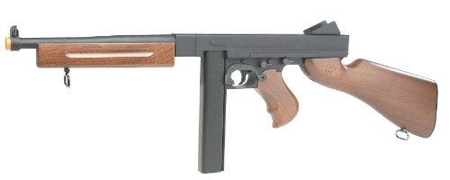 Soft Air Thompson M1A1 AEG Airsoft Rifle (Black/Wood) (290 Fps Airsoft Gun compare prices)
