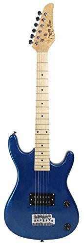 Bridgecraft 36-Inch Junior Electric Guitar With Gig Bag - Metallic Blue