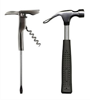 Barbuzzo Bar Tools - Beer Hammer & Ice Crusher Corkscrew Screwdriver