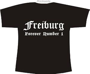 Freiburg - Forever Number 1; Städte Polo T-Shirt schwarz