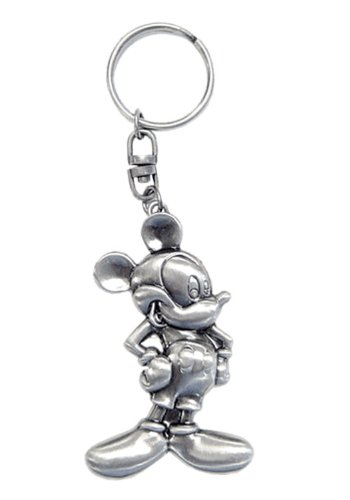 Disney Classic Mickey 2D Pewter Keyring - 1