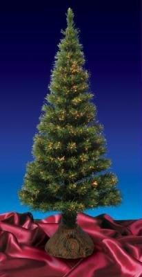6' Pre-Lit Color Changing Fiber Optic Artificial Christmas Tree - Multi Lights