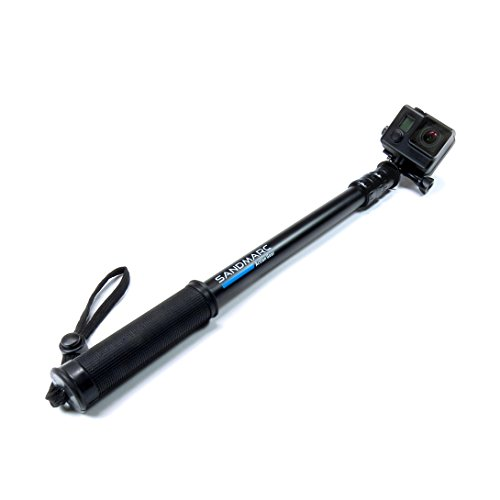 Sandmarc Pole - Black Edition: Telescoping Extension Pole For Gopro Hero Cameras 17-40""
