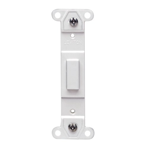 Leviton 80700-W Toggle Plastic adapter plate, Blank Toggle No Hole, White