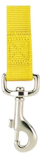 Zack & Zoey Nylon Pet Lead, 4-Feet by 5/8-Inch, Yellow