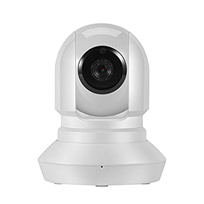 Hi-Tech 720P HD Wireless Wifi Pan/Tilt/Zoom Dome Network/IP Camera Day/Night Vision Intercom Video/Audio Input/Output Mobile App Control Home Security Surveillance System