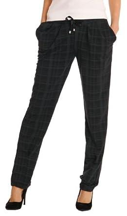 Bestyledberlin Damen Jogging Hose Gr. 40/L Pluderhosen, Homewear, sportliche Hosen, Freizeithosen schwarz