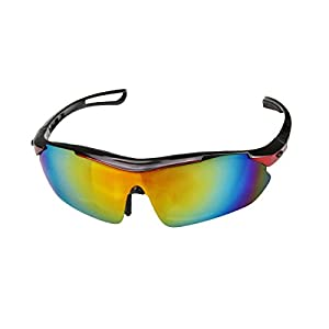 H:oter® Unisex Sonnenbrille UV400 Sport Wrap 100 % Schutz - Red