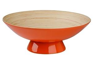 Premier Housewares Kyoto Spun Bamboo Fruit Bowl Orange