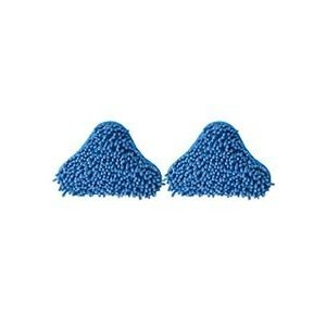 2 x MICROFIBER BLUE CORAL PADS FOR 5 IN 1 X5 H20 STEAM MOP hany