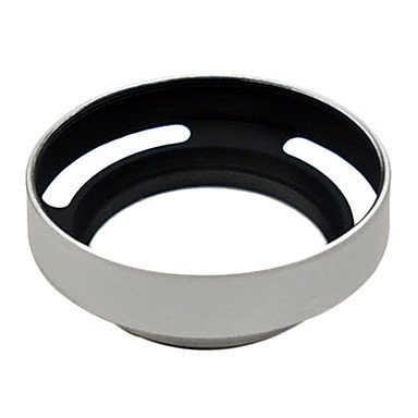 Limme 58Mm Metal Tilted Vented Lens Hood Thread Screw For Canon Sony Nikon (Black)