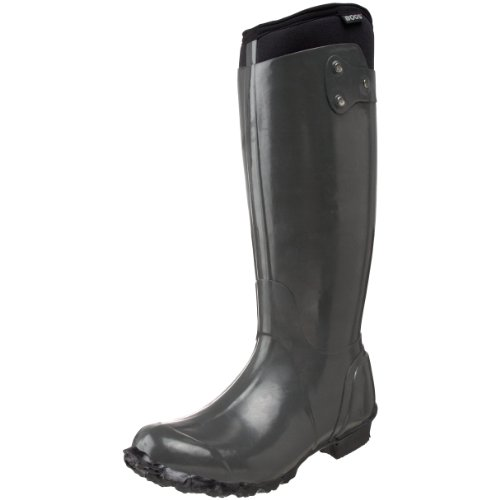 Bogs Women's Rider Grey Wellington Boot BO5225237 4 UK, 37 EU, 6 US