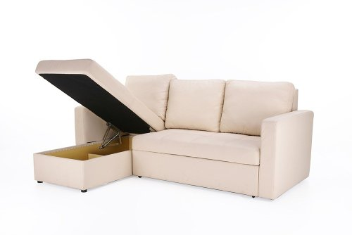 Comparamus beige faux leather sectional sofa bed with for Sofa bed 54 wide